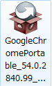 Google Chrome Portableのインストール1